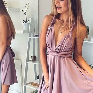 A-Line/Princess V-neck Sleeveless Short Dress